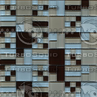 acasis brown blue mosaic