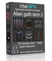 60 Alien Goth Tech 2 ( Giger style )