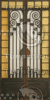 Art Deco Glass Door Texture
