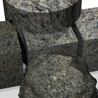Antique stone 3DM material