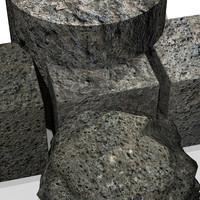 Antique stone 3DM material