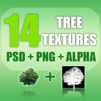14 Tree Texture Pack + Alpha