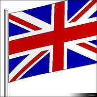 Flag UK Pole 00300se
