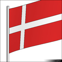 Flag-Denmark-Pole-00566se