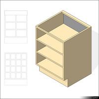 Kitchen Floor Unit Shelf 01013se