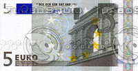 5 five euro banknote high resolution texture