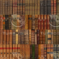 86 Unique Leather Book spines, tileable