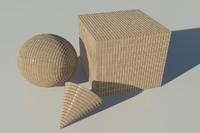 Brick - Soldier Tan mental ray PROCEDURAL material - mr shader