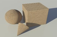 Brick - Tan mental ray PROCEDURAL material - mr shader