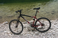 Gary Fisher bike on a lake (+CRW)