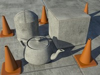 Concrete Slabs One - Mental Ray Material - 3ds max2010