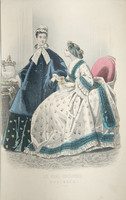 antique Godey fashion print