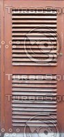 Wooden door with vents