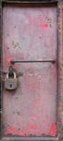 Solid metal door