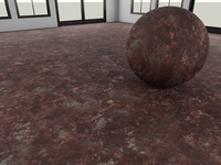 Metal_Rusted_1 - Prucedural Rusted Metal - 3ds max 2010 Mental Ray material