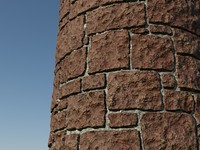 Stone_Procedural_red_1 - HIGH QUALITY PROCEDURAL stone material - Mental Ray shader