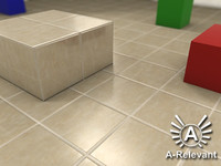 Tile_1_Tan - Procedural Marble Tile Material - 3ds Max 2010 Mental Ray