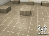 Tile_2_Beige - Procedural Marble Tile Material - 3ds Max 2010 Mental Ray