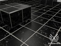Tile_5_Black_Mat - Marble Tile Material - 3ds Max 2010 Mental Ray