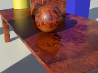 Wood Burloak Semi-Glossy 1_01 - 3ds max2010 Mental Ray Material