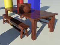 Wood Stained Dark Glossy1_01 - 3ds max2010 Mental Ray Material