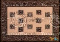 Rectangular carpet 074