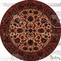 Round carpet 089