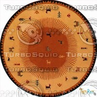 Round carpet 094