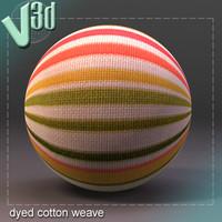 dyed cotton fabric maya material