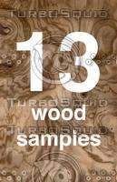 13 European wood grain images