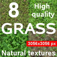 8 textures of the grass - pack3