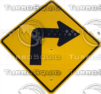Right Turn Road Sign.psd