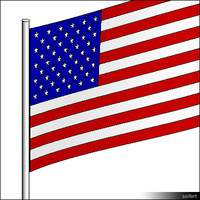 Flag USA Pole 00301se