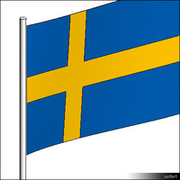 Flag-Sweden-Pole-00564se