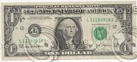 1 ,10 , 100 dollars banknotes.