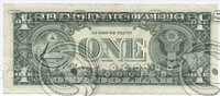 1 ,10 , 100 dollars banknotes. back side