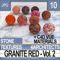 Granite Red Vol. 2 - Textures & Materials