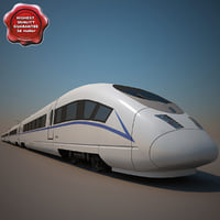 3ds chinese crh-3 high-speed train