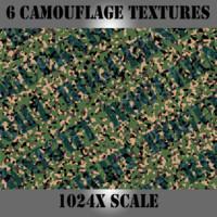 6 Camoflauge Textures