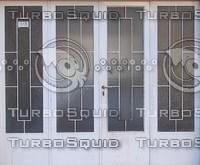 Old metal garage doors texture