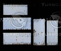 5 x rusty metal panels