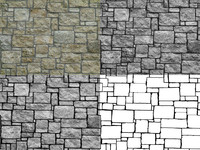 Stone_AR_3 - high res Stone texture map - INCLUDES BUMP, DISPLACEMEN, ETC!