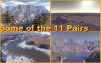 Stereoscopic Terragen Backgrounds