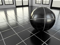 Tile_1_Black - Procedural Marble Tile Material - 3ds Max 2010 Mental Ray