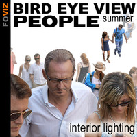 Bird eye view summer people (interior lighting)