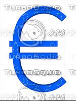 euro sign.Europe Flag