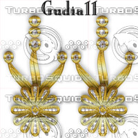 gudia11_flower earring in gold and diamonds_1