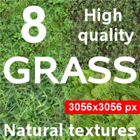 8 textures of the grass - pack2