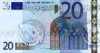 20 twenty euro banknote high resolution texture