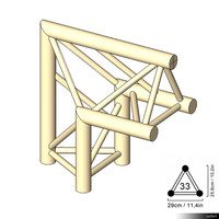 Truss 33 Corner 2-way 90 apex up 00187se